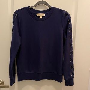 Michael Kors Navy Blue Sweater with Gold